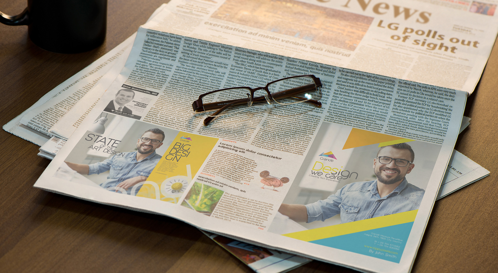 Newspaper Advertisement Mockups vol 2